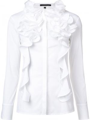 Блузка с оборками Walter Voulaz. Цвет: белый