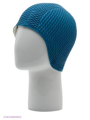 Шапочка плавательная Бабл-кап Larsen. Цвет: голубой