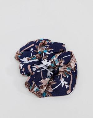 ASOS Резинка для волос с пальмой. Цвет: мульти