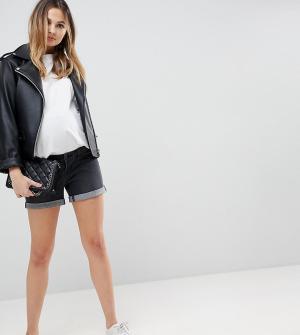 Bandia Джинсовые шорты со съемной вставкой для животика Maternity. Цвет: черный