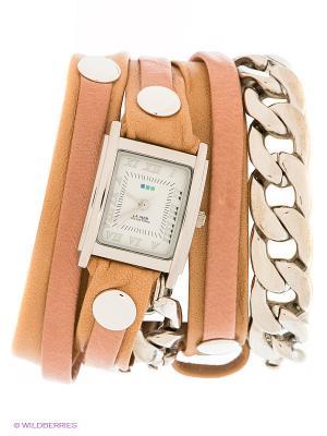 Часы La Mer Collections. Цвет: светло-коричневый, персиковый, серебристый