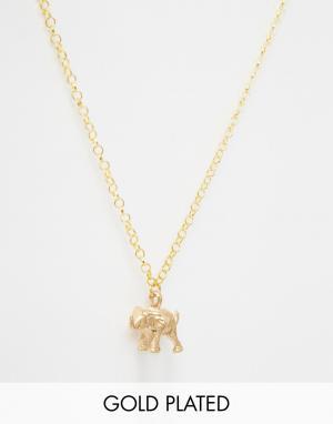 Only Child Ожерелье с подвеской в виде слона Never Forget