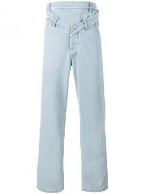 Выбеленные джинсы прямого кроя Y / Project. Цвет: синий