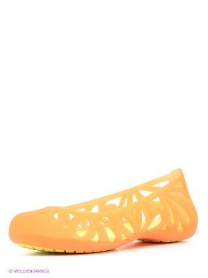 Балетки Adrina3FlatW CROCS. Цвет: оранжевый