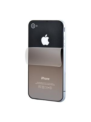 Зеркальная плёнка для задней панели iPhone 4/4S Belsis. Цвет: прозрачный