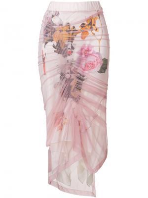 Тюлевая юбка Anthea Preen By Thornton Bregazzi. Цвет: розовый и фиолетовый