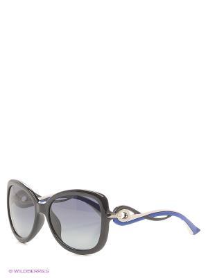 Солнцезащитные очки CHRISTIAN DIOR. Цвет: черный, синий, серебристый