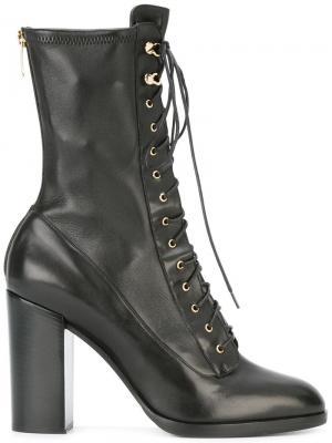 Ботинки на шнуровке Sergio Rossi. Цвет: чёрный