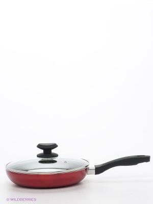 Сковорода 24 см Winner. Цвет: красный, черный