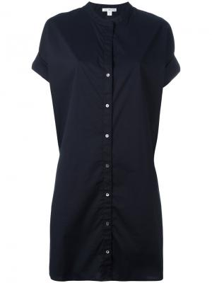 Платье-рубашка James Perse. Цвет: синий