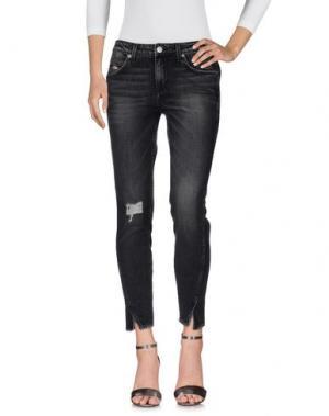 Джинсовые брюки AMO. Цвет: серый