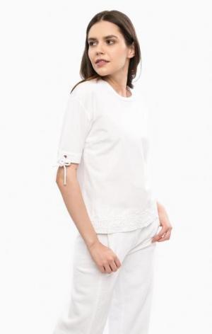 Белая футболка свободного кроя River Woods. Цвет: белый