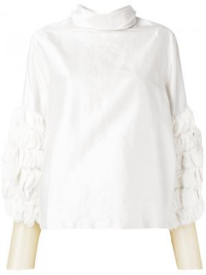 Плиссированная блузка Toga. Цвет: белый