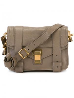 Маленькая сумка-сэтчел PS1 Proenza Schouler. Цвет: серый