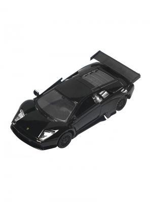 Машинка Инерционная Lamborghini Murcielago R-GT, Черная (1:41-1:32) (PS-0616313-BL) Pit Stop. Цвет: черный