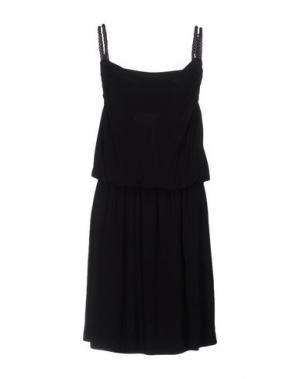 Платье длиной 3/4 ROBERTA SCARPA. Цвет: черный