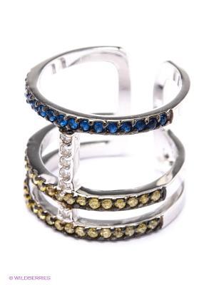 Фаланговое кольцо JV ДЖЕЙ ВИ. Цвет: желтый, синий, серебристый
