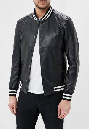 Куртка кожаная Y.Two. Цвет: черный