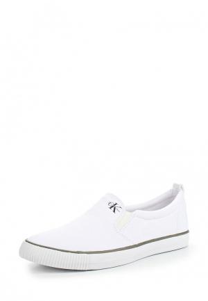 Слипоны Calvin Klein Jeans. Цвет: белый
