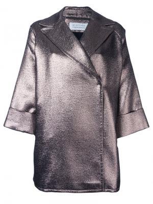 Пальто Emma Gianluca Capannolo. Цвет: металлический