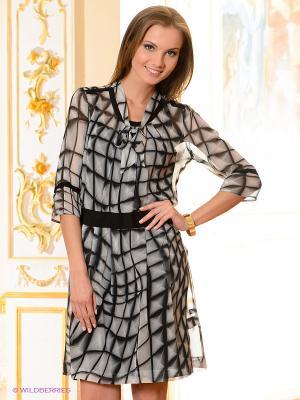 Платье Elegance. Цвет: белый, черный