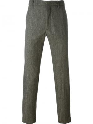 Укороченные брюки Pence. Цвет: зелёный