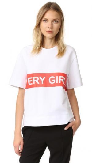 Футболка Every Girl is Kate Moss Anna K. Цвет: белый