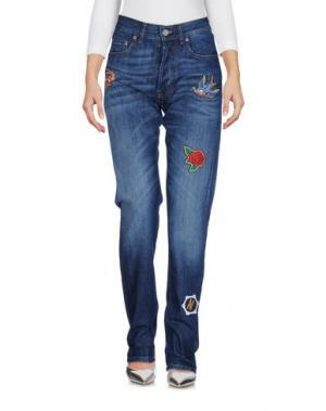 Джинсовые брюки HAPPINESS. Цвет: синий