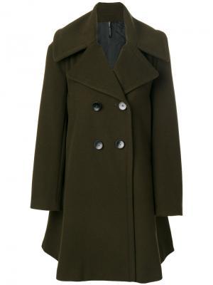 Двубортное пальто Plein Sud. Цвет: зелёный