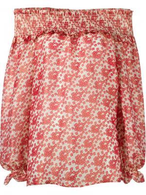 Блузка с открытыми плечами Manoush. Цвет: красный