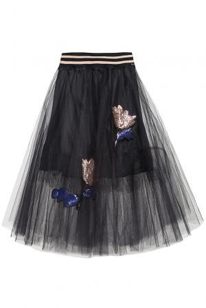 Юбка с пайетками 186268 Cristina Effe. Цвет: черный
