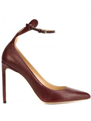 Туфли с ремешком на щиколотке Francesco Russo. Цвет: красный
