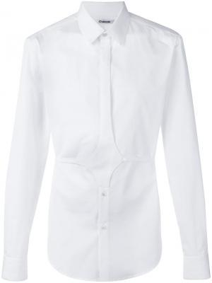 Рубашка с поясом Chalayan. Цвет: белый
