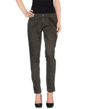 Повседневные брюки NO LAB. Цвет: зеленый-милитари