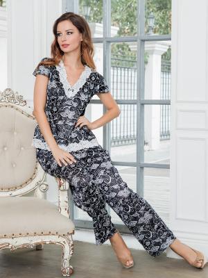 Пижама MIA-MELLA. Цвет: белый, черный