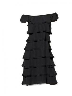 Платье из шифона CARRY ALLEN. Цвет: чёрный