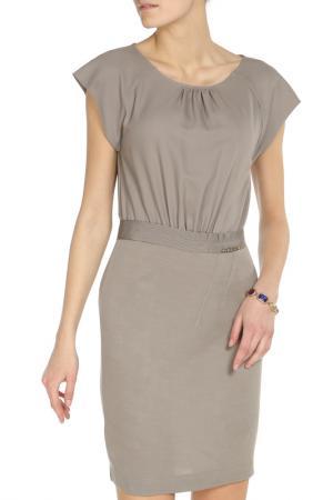 Облегающее платье цвета нюд Liu Jo. Цвет: серый
