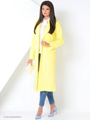 Пальто Ksenia Knyazeva. Цвет: желтый