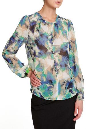 Блуза с длинными рукавами Mees. Цвет: светло-синий