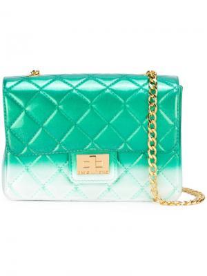 Стеганая сумка на плечо Milano Designinverso. Цвет: зелёный