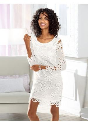 Платье Linea Tesini. Цвет: молочно-белый
