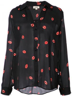 Блузка с принтом Lagence L'agence. Цвет: чёрный