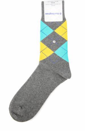 Хлопковые носки King Burlington. Цвет: темно-серый