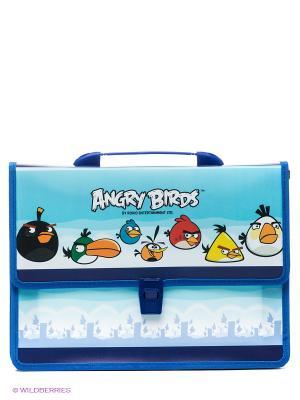 Папка-портфель Аngry Birds Centrum. Цвет: голубой, синий