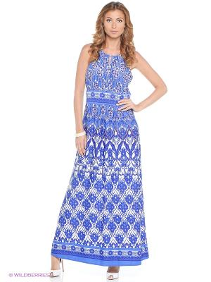 Платье London Times. Цвет: синий