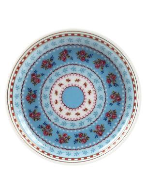 Набор из 4-х блюдец для чайных пакетиков Floral Pip studio. Цвет: синий
