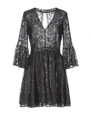 Короткое платье HEIMSTONE. Цвет: свинцово-серый
