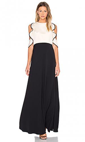 Вечернее платье с рюшами вверху JILL STUART. Цвет: черный