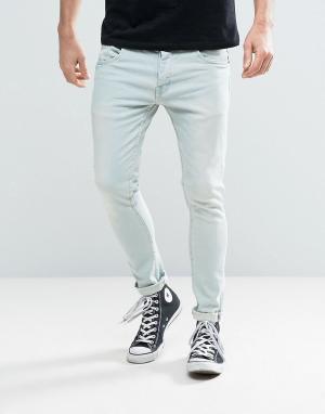 Brave Soul Голубые эластичные джинсы скинни. Цвет: синий