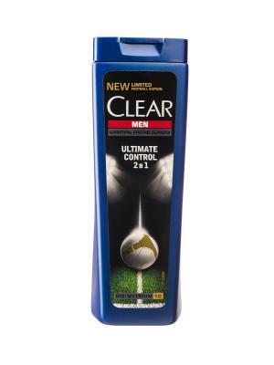 Шампунь и Бальзам-ополаскиватель 2в1 против перхоти для мужчин Ultimate control 200мл CLEAR. Цвет: белый